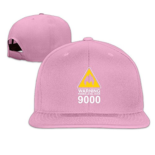 sunny-fish6hh-adjustable-warning-power-level-over-9000-dragon-ball-baseball-caps-hat-unisex-pink