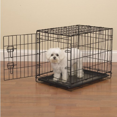 Petedge Easy Wire Dog Crate, Large, Black