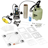 CRL 240 Volt Deluxe Portable Glass Router With Template System by CR Laurence by CR Laurence