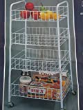 Generic Multi-Function Utility 4 Tier Rack Storage Cart With Wheels