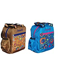 Attache Lunch Bag Set Of 2(Golden & Blue)