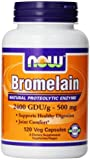 NOW Foods Bromelain 2400Gdu/500mg, 120 Vcaps