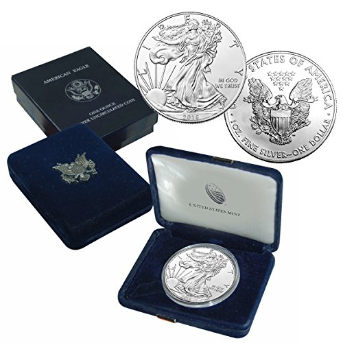 2016 American silver eagle $1 Brilliant Uncirculated US Mint Box