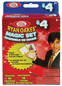 POOF-Slinky - Ideal Ryan Oakes 15-Trick Magic Set #4 with Disappearing Lollipop and Magic Paint Card, 0C1154