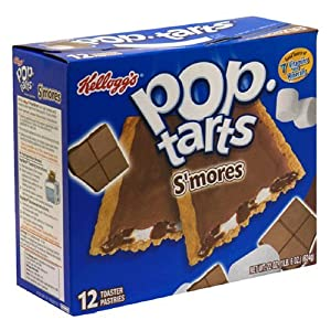 Kellogg's Pop Tarts S'mores Flavored 12 Pastry Box = 22 Oz. (2 Pack)