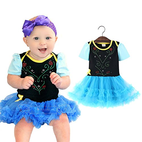 StylesILove Baby Girl Frozen Inspired Rhinestuds Tutu Costume Dress