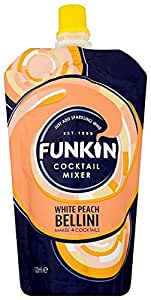 Funkin Peach Bellini Cocktail Mixer 120 g (Pack of 8)