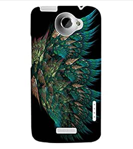 ColourCraft Peacock Feather Design Back Case Cover for HTC ONE X
