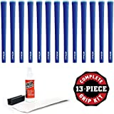 Iomic Sticky 1.8 Grip Kit With Tape, Solvent And Vise Clamp (13-Piece), Blue Round