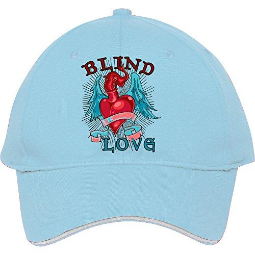 Fashion Adjustable Light Blue Cotton Baseball Cap Snapback Valentine Love Heart T-shirtsvalentine Love Heart Hat (male/female)