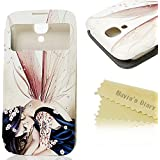 Mavis 's Diary Samsung Galaxy S4 Case Cover Protective Case Cover Leather Case Protection Case Protective Cover Skin Case Shell Handytasche Intelligent sleep Function for Samsung Galaxy S4 i9500 woman with tattoos
