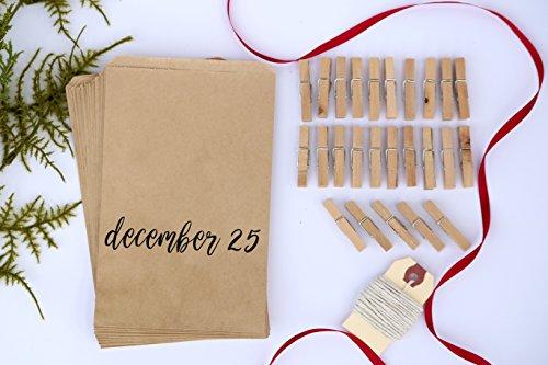 Advent Calendar Kit - Christmas Countdown Calendar, 25