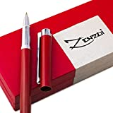 Fountain Pens [Million Dollar Red] with Ink Refill Converter and Gift Case - Timeless Classics Collection - Executive Writing Signature Calligraphy Pen Set For International Cartridges - 100% Warranty