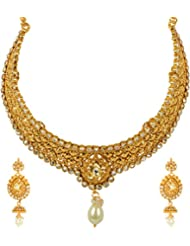 Pinkcity Handicrafts Gold Metal Necklace Set For Women (PC030)