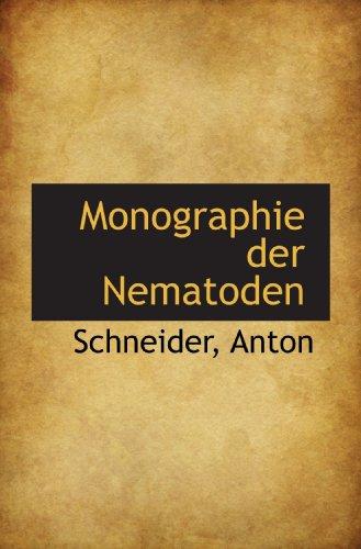 Monographie der Nematoden