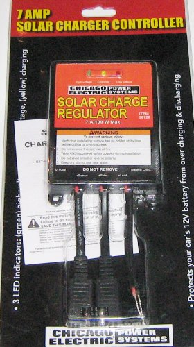 Chicago Electric 7 amp Solar Charger Controller Regulator (Chicago Electric Charger compare prices)