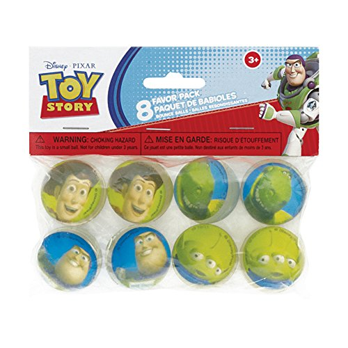 Toy Story Bouncy Ball Party Favors, 8ct - 1