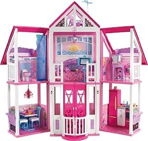 Mattel W3141 - Barbie Traumhaus, mit viel Zubehör