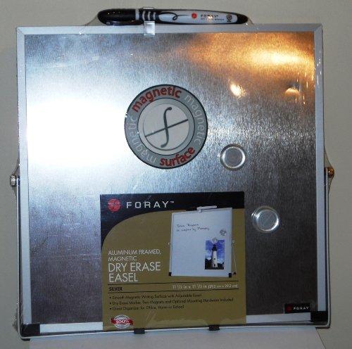 Foray Aluminum Framed Magnetic Dry Erase Easel - Silver