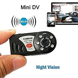 YYCAM ® 12080*720P HD Mini Portable P2P WiFi IP Camera Indoor/Outdoor HD DV Hidden Spy Camera Video Recorder Security Support iPhone/Android Phone/ iPad /PC Remote View