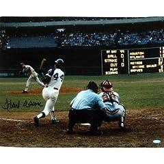 Hank Aaron Autographed Hand Signed Atlanta Braves 16x20 Photo (Swing Vs. Houston...