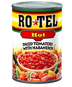 Ro-Tel Diced Tomatoes Hot, 10-Ounce Cans (Pack of 12)