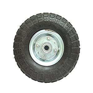 """Pneumatic Tire and Wheel - 10"""" X 3.5"""" with 5/8"""" Bore by Northern Tool and Equipment"""