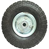 "Pneumatic Tire and Wheel - 10"" X 3.5"" with 5/8"" Bore, Offset Hub"