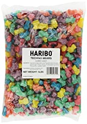 Haribo Gummi Candy, Techno Bears, 5-Pound Bag