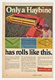 1972 New Holland Haybine Mower Conditioner Print Ad (22030)