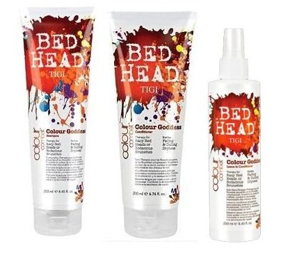 Bed Head By Tigi - Colour Combat 3 Sets - Colour Goddess Shampoo x 3 250ml, Colour Goddess Conditioner 200ml x 3  &  Colour Goddess Leave-In Conditioner 250ml x 3