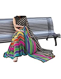 Winza Women's Cotton Silk Printed Saree (9Patta_multicolor)