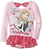 Disney Little Girls' Anna and Olaflong Sleeve Top