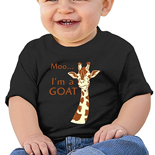 [Jirushi Infants &Toddlers Baby's Pretty Cool Giraffe Black T Shirts For 6-24 Months] (Gay Star Wars Costume)