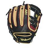 Wilson 2016 A2K Brandon Phillips Game Model Baseball Glove, Black Textured/Red/Blonde, Right Hand Throw