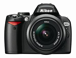 Nikon D60 DSLR Camera with 18-55mm f/3.5-5.6G AF-S Nikkor Zoom Lens