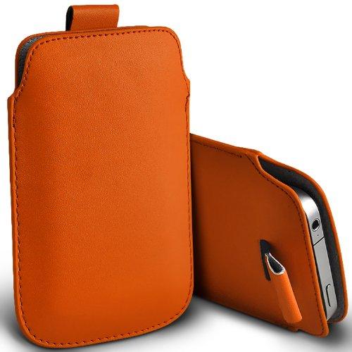 ( Orange ) Samsung Rex 60 C3312R Schutzkunstleder Pull Tab stilvolle Einbau Beutel-Kasten-Abdeckung Haut durch Fone-Case