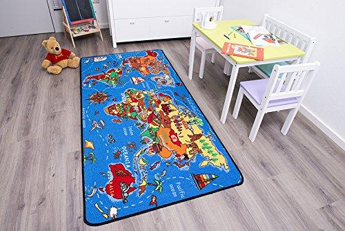 Spielteppich Kinderteppich – Weltkarte 0,95 x 2,00 günstig