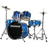 Ludwig Junior 5 Piece Drum Set with Cymbals (Blue)