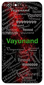 Vayunand (Lord Hanuman) Name & Sign Printed All over customize & Personalized!! Protective back cover for your Smart Phone : Apple iPhone 4/4S