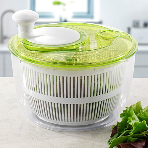 Jumbo Salad Set Large Salad Spinner 5L - Easily Spin & Dry Salads & Vegetables - Perpetual Peeler and eBook included (Salad Bar Tupperware compare prices)