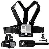 CamKix Body Mount Bundle for Gopro Hero 4, Session, Black, Silver, Hero+ LCD, 3+, 3, 2, 1 - Chest Harness Mount / Head Strap Mount / Wrist Mount / J-Hook / Thumbscrew / Storage Bag