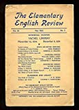 The Elementary English Review, May 1932: Memorial Number, Vachel Lindsay.