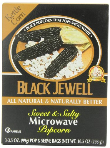 Black Jewell Premium Microwave Popcorn, Kettle Corn, 10.5-Ounce Boxes (Pack Of 6)