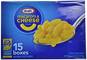 Kraft Blue Box Macaroni & Cheese, 7.25-oz. Boxes (Count of 15)