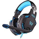 TurnRaise EACH G2100 Comfortable LED 3.5mm Stereo Gaming LED Lighting Over-Ear Headphone Headset With Mic For... - B016MN5HVA