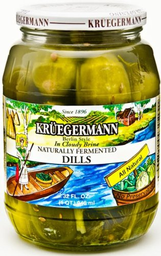 Naturally Fermented Dill Pickles in Cloudy Brine 32 fl oz (Pickles In Brine compare prices)