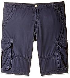 Celio Men's Cotton Shorts (8904231506480_DOBATTLEBLUE STONE_86_Blue Stone)