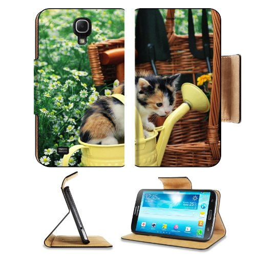 Kitten Watering Can Spotted Sitting Toddler Samsung Galaxy Mega 6.3 I9200 Flip Case Stand Magnetic Cover Open Ports Customized Made To Order Support Ready Premium Deluxe Pu Leather 7 1/16 Inch (171Mm) X 3 15/16 Inch (95Mm) X 9/16 Inch (14Mm) Liil Mega Cov front-752818