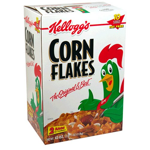Kellogg'S Corn Flakes Cereal 43.0 Total Ounce Two Bag Value Box